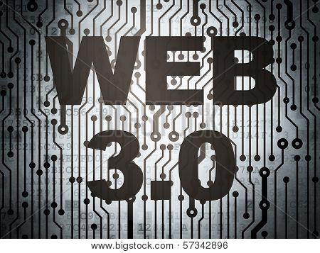 Web design concept: circuit board with Web 3.0