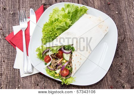 Wrap With Meat