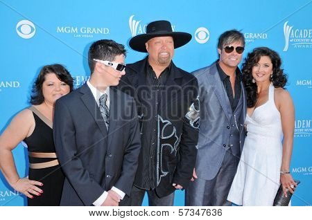 Eddie Montgomery and Troy Gentry and Family at the 45th Academy of Country Music Awards Arrivals, MGM Grand Garden Arena, Las Vegas, NV. 04-18-10