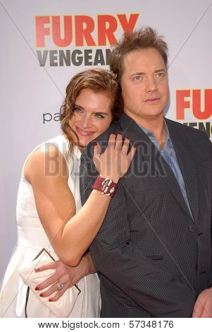 Brooke Shields and Brendan Fraser at the Los Angeles Premiere of