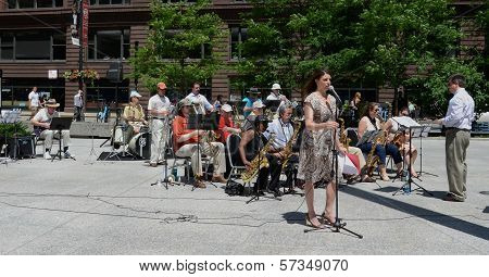 Chicago Barrister's Band Performs In Federal Plaza