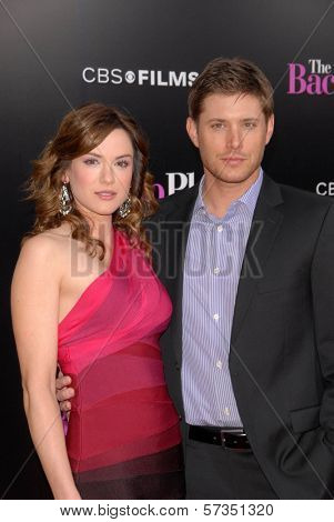 Danneel Harris and Jensen Ackles  at the Premiere of CBS Films'