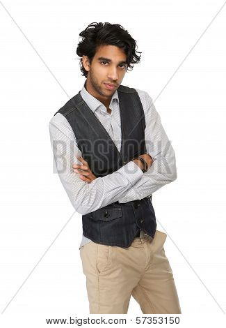 Close Up Portrait Of A Casual Business Man
