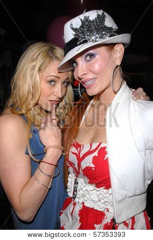 Jennifer Blanc-Biehn and Phoebe Price  at Jennifer Blanc-Biehn's Birthday Party, Sardos, Burbank, CA. 04-23-10