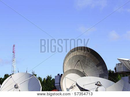 Parabolic Antennas Satellite Communications