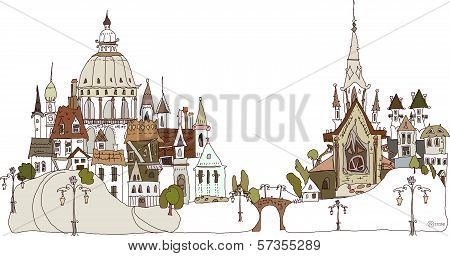 Old city background