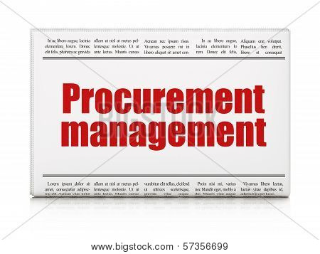 Business concept: Procurement Management