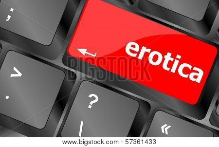 Erotica Button On Computer Pc Keyboard Key
