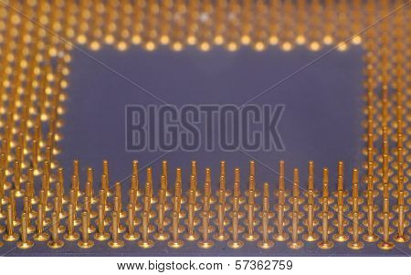 Macro View Of Processor Microchip