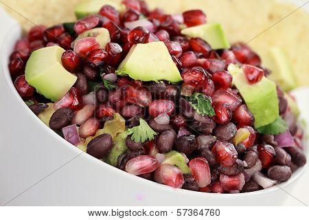 Black Bean, Pomegranate And Avocado Relish