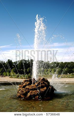 Fountain in Rundale palace, Latvia
