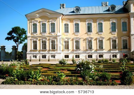 Rundale palace and garden in Latvia