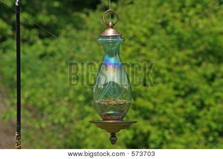 Glass Ornimental Bird Feeder