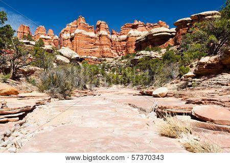 Barren Desert Landscape In American Southwest