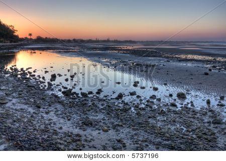 Sandgate Mudflats At Dusk