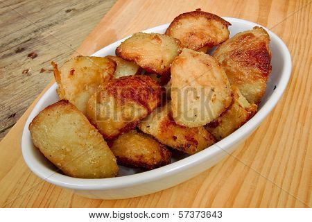 Roasties In A Serving Dish