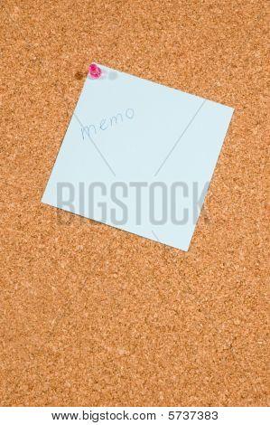 Memo Board With Message: Memo