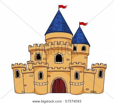 Medieval castle or fortress