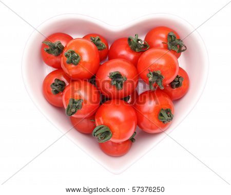 cherry tomatoes on plate