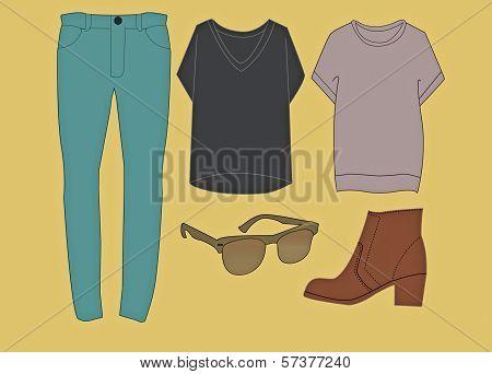 Hipster Clothing Set