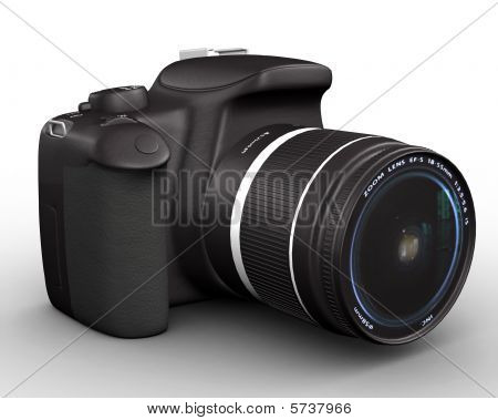 Digital camera 3d render