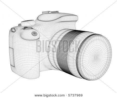 Digital camera 3d render