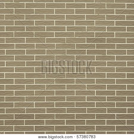 Closeup Of Brownish Green Brick Wall As Background Or Texture