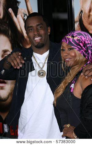 Sean Combs, Janice Combs  at the