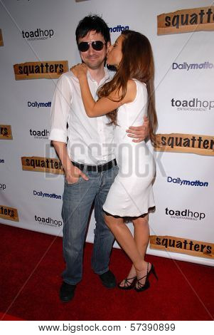 Josh Robert Thompson and Kerri Kasem at the Red Carpet Launch Party for