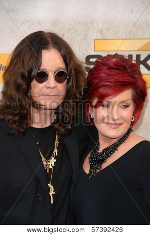 Ozzy Osbourne and Sharon Osbourne at Spike TV's 4th Annual