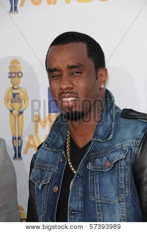 Sean 'P. Diddy' Combs at the 2010 MTV Movie Awards Arrivals, Gibson Amphitheatre, Universal City, CA. 06-06-10