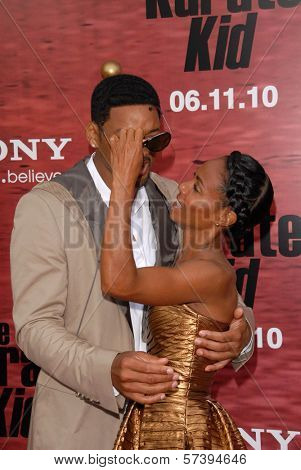 Will Smith and Jada Pinkett Smith at