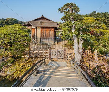 Shima-Jaya Teahouse at Koraku-en garden in Okayama
