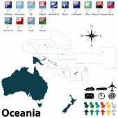 Political Map Of Oceania