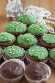image of hazelnut tree  - Christmas Tree Muffins with chocolate, orange and hazelnuts