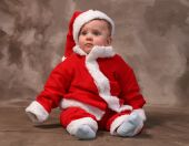 stock photo of santa baby  - santa clause or father christmas child - JPG