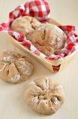 foto of home-made bread  - Home made Bread Rolls in a bread basket - JPG