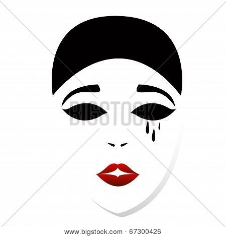 Theatrical vector mask - isolated illustration.