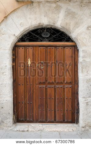 Old Wooden Entrance Door