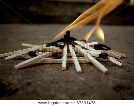 fire with matches