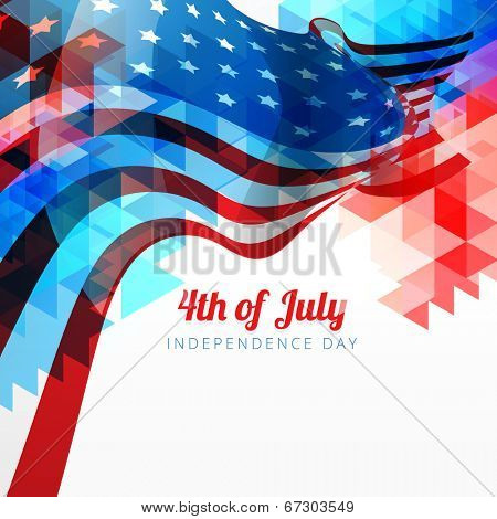 vector abstract style 4th of july background