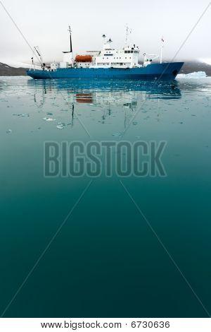 Icebreaker In Icy Water