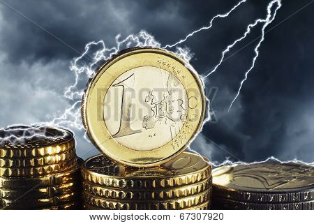 Euro in the thunderstorm
