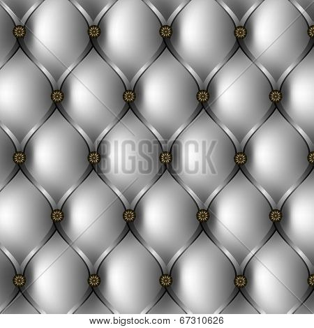 Buttoned Gray Background