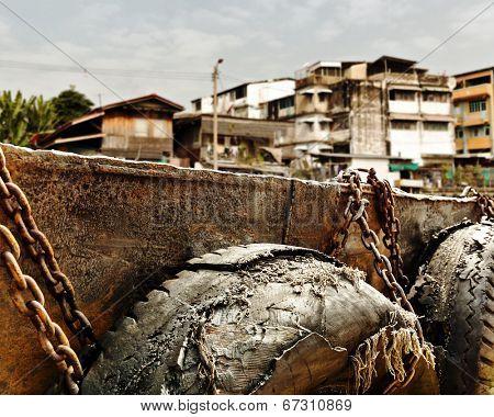 Slum near dock