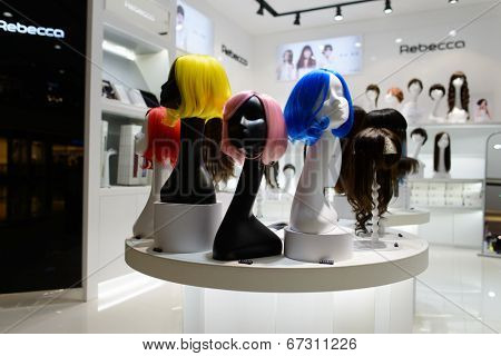 SHENZHEN, CHINA-APRIL 13: hairdressing salon in ShenZhen on April 13, 2014 in Shenzhen, China. ShenZhen is regarded as one of the most successful Special Economic Zones.