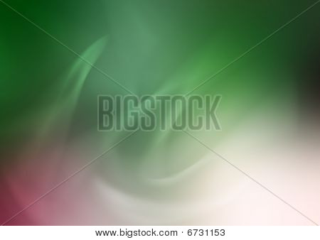 Abstract Composition Green Flame