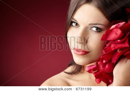 Girl With Petals