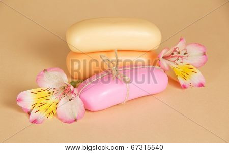 Three soaps for body and flowers