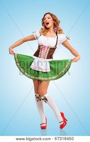 Dancing At Oktoberfest.